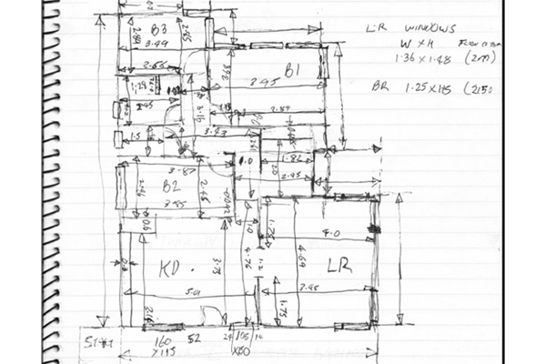 Hand Drafted Floor Plan